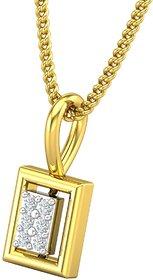 Jewel Hub Certified Diamond Sparkling Pendant 0.03 ct / 0.42gm 18k Yellow Gold-JPT1857