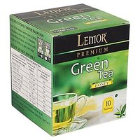 Lemor Honey Flavored Green Tea Bag box (One Pack of 10 Teabag pieces) for Healthy Indian Beverage Drinkers (Brand Outlet