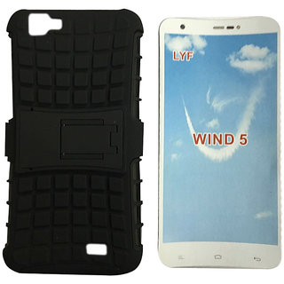 new arrival ba3b7 5ae55 Colorcase Defender Hybrid with Stand Back Cover Case for Reliance Jio Lyf  Wind 5