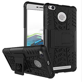 Defender Tough Hybrid Armour Shockproof Hard PC + TPU with Kick Stand Redmi 3S Prime
