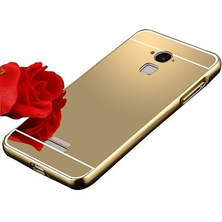 more photos c333e 240b4 Mobi case Aluminum Metal Bumper with PC Mirror Back Cover Case For Coolpad  Note 3 Plus - GOLD
