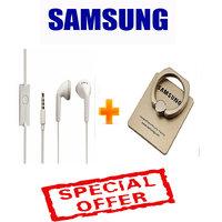 ORIGNAL SAMSUNG EHS61 EARPHONE + SAMSUNG MOBILE RING HOLDER (LIMITED STOCK)