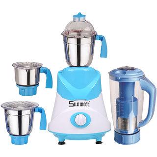 Sunmeet 750 Watts Mixer Juicer Grinder with 4 Jar (1 Juicer Jar,1 Medium Jar,1 Large Jar and 1 Chuntey Jar)  Direct Factory Outlet, Save On Retailer margin.