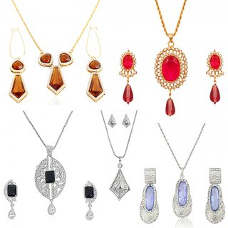 Touchstone Colourful Designer five Pendant sets Collection