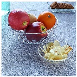 Ocean Glassware-Ocean Diamond Pudding Set of 7 Pieces(1 Big Bowl, 6 Small Bowls)