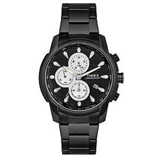 Timex Quartz Black Dial Mens Watch-TW000Y517