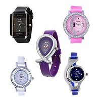 Infinity Enterprise Combo Of 5 Multicolour Analog Watch