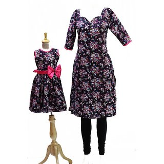 Cotton Mom and Daughter combo dress