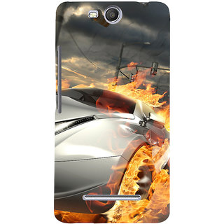low cost 86685 96110 3D Designer Back Cover For MicroMax Bolt Q338 :: Car On Fire :: MicroMax  Bolt Q338 Designer Hard Plastic Case (Eagle-063)