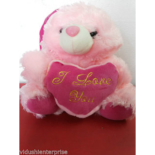 Pink teddy bear with i love you slogan in heartunique gift for kids pink teddy bear with i love you slogan in heartunique gift for kids altavistaventures Images