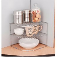 Chrome Plated Mild Steel Plate Rack 11X11X9.5 Silver
