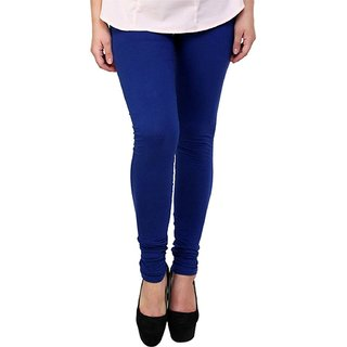Women's Cotton Lycra Churidar Leggings - Blue