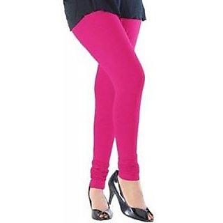 Women's Cotton Lycra Churidar Leggings - Pink