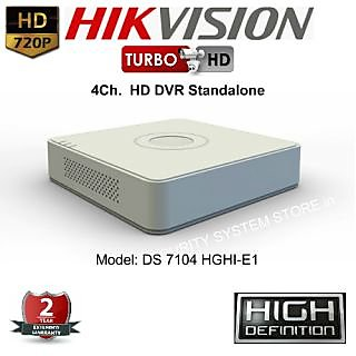 HIKVISION DS-7104HGHI-E1 Turbo HD 720P 4 Ch. HD DVR