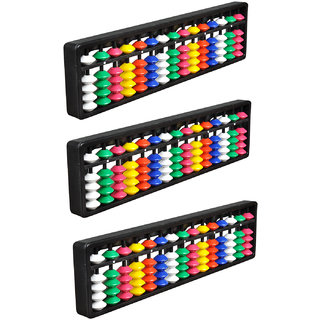 Abica Abacus math learning kit for kids 15 rod multi color ( pack of 3 )