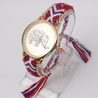 7Star EBI New Brand Handmade Elephant Bracelet Watch Geneva Ladies Quarzt Watches