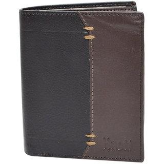 Knott Brown/Black Fashionable Leather Wallet for Men