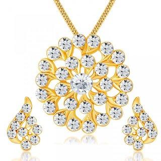 ShoStopper Sublime Gold Plated Australian Diamond Pendant Set