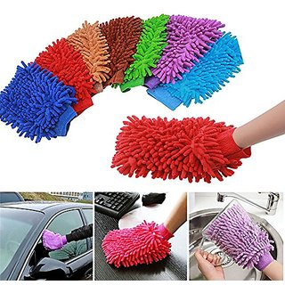 Car - Bike Cleaning Micro Fiber Gloves - Buy 2 Get 2 FREE