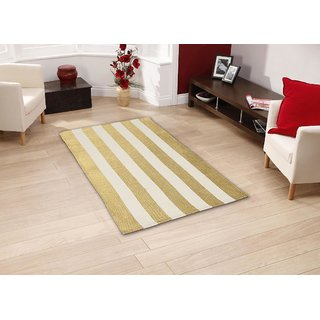 DECORLY HOMES COTTON  GOLD  FOIL  STRIPS PRINTED RUG/CARPET