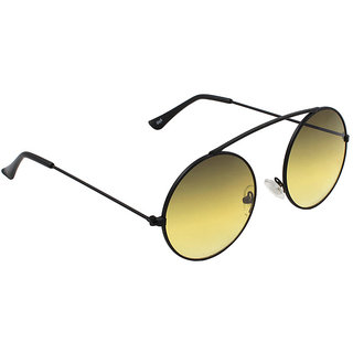 6by6 Yellow UV Protection Unisex Round Sunglass