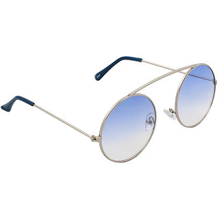 6by6 Blue UV Protection Unisex Round Sunglass