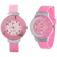Shree Pink Dial Analog Watch For Women And Girls-Pack O