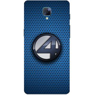 huge inventory 7c311 afde1 3D Designer Back Cover For ONE PLUS 3T :: Patterns With Four Logo :: 1+ 3T  Designer Hard Plastic Case (Eagle-197)