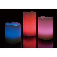 LED Wax Candles - Set of 3,diameter 5 cms L- 9 cms,7 cms,5 cms,Wax,W