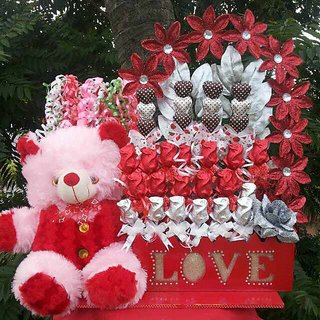 chocolate bouquet with teddy