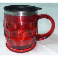 Stainless Steel HOT & COLD Multipurpose Mug - Hot Red (Large Size + Sipper Lid)