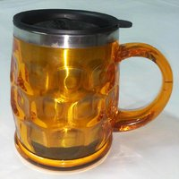 Stainless Steel HOT & COLD Multipurpose Mug-Bright Yellow (Large Size+Sipper Lid