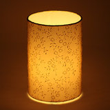 Craftter Light Yellow Printed Short Lamp