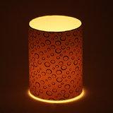 Craftter White Color Round Design  Short Lamp