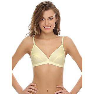 d356bae3a9 Buy Clovia Women Cotton Soft Cup Bra In Yellow Online   ₹399 from ...