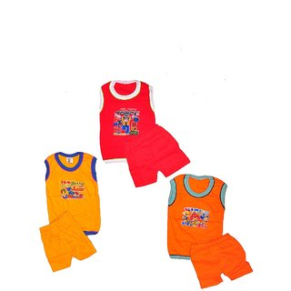 Pari & Prince Kids Baba suit (Pack of 3)