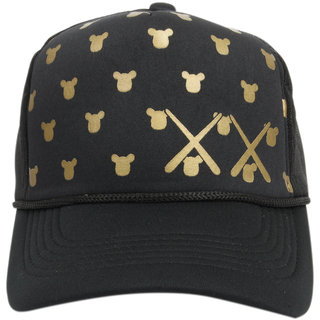ILU Black Mesh Cap Snapback Cap Baseball Cap Caps for Men Women Boys Girls