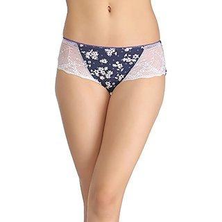 Clovia Mid-Waist Bikini With Trimmed Elastic - Blue
