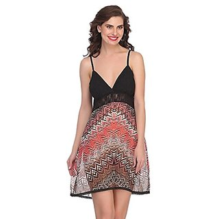 Buy Clovia Crepe Short Nightdress In Black Online   ₹999 from ShopClues 69cf83147