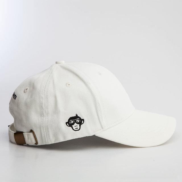 08c3a887f Urban Monkey Snapback Unisex Off White Cotton Cap
