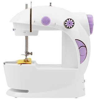 Mini Portable Sewing Machine With Free Adapter - White