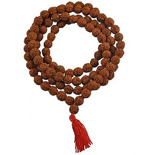 only4you 5 face Rudraksha mala 108 +1 Beads