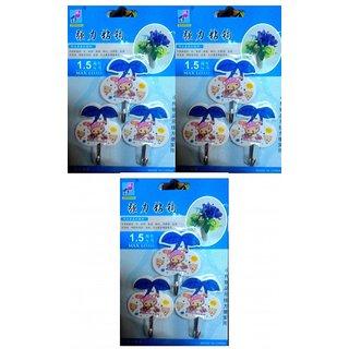 Plastic Multipurpose Hooks Pack of 9