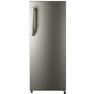 Haier HRD-2157BS 195 Litres Direct Cool Single Door 5 Star Refrigerator  (Brushed Silver)