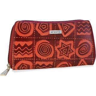 arpera Sofia Leather pouch purse cherry C11559-4