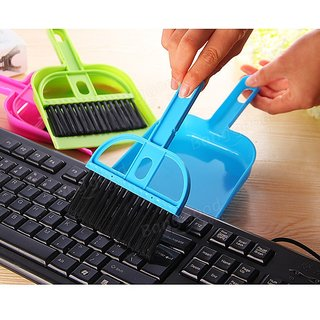 Mini Dust Pan Computer Laptop TV Shelves Cleaning Brush Kitchen Car Desk Broom - Buy 2 Get 2 FREE