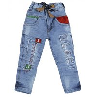 Punkster Kids Regular Fit Denim Blue Jeans For Boys