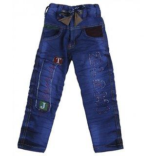 Punkster Kids Regular Fit Denim Blue Jeans For Boys