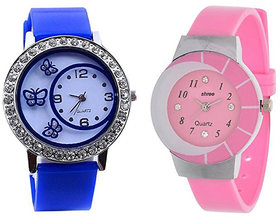 Shree Blue And Pink Dial Analog Watch For Women And Gir