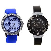 Shree Blue And Black Dial Analog Watch For Women And Gi